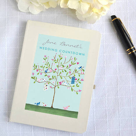Personalised Wedding Countdown Notebook | fashion | Scoop.it