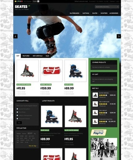JM Skates Magento Sports Theme | dfg | Scoop.it