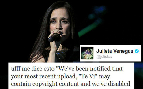 Julieta Venegas no puede subir su propia música a Internet » The ... | El ManoSanta77 | Scoop.it