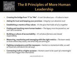 The Simple Truths Behind The 8 Principles Of More Human Leadership  | digitalNow | Scoop.it