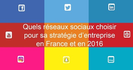 Le blog de Social Media Kapital - idées et réflexions autour des médias sociaux: Quels réseaux sociaux pour sa stratégie d'entreprise en France et en 2016 ? | Internet world | Scoop.it