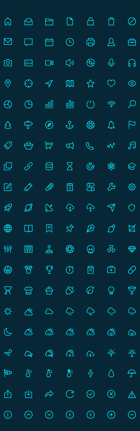 1000+ Free Outline Icons for UI Designers | elearning stuff | Scoop.it