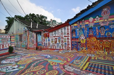 Rainbow Family Village (彩虹眷村) – In Taichung, Taiwan   STREET ART UTOPIA   iconoMix   Scoop.it