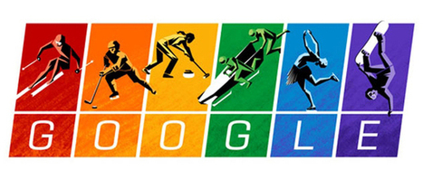 Google quotes the Olympics Charter, Winter Olympics doodle in gay pride colours | Entertainment | Scoop.it