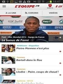 Télécharger L'Equipe.fr 3.2 | Application Android | Applications Iphone, Ipad, Android et avec un zeste de news | Scoop.it