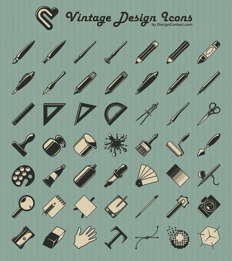45 Free Retro and Vintage Design Resources | inspirationfeed.com | le webdesign | Scoop.it