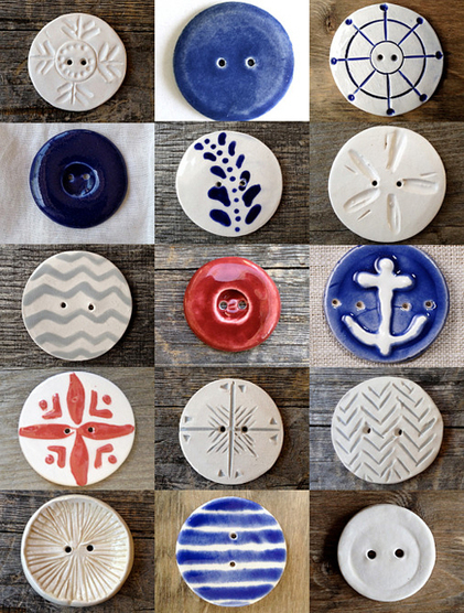 Wonderful handmade buttons   Fine Little Day   Handmade   Scoop.it