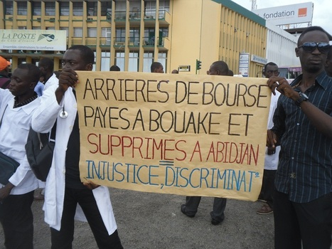 Le Sit-in de la Coalition des Mouvements Universitaires de Côte d'Ivoire (COMUCI) dispersé à coup de fumigène | Higher Education and academic research | Scoop.it