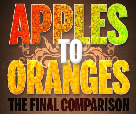 Apples vs Oranges ★ Cool Infographics | infographies | Scoop.it