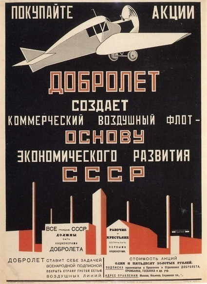 Alexander Rodchenko - Dubrolet Airline Poster, 1923 | Affinities | Scoop.it