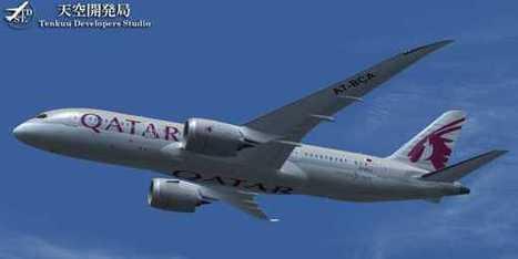 FS2004/FSX - Qatar Airways Boeing 787-8 | guilherme | Scoop.it