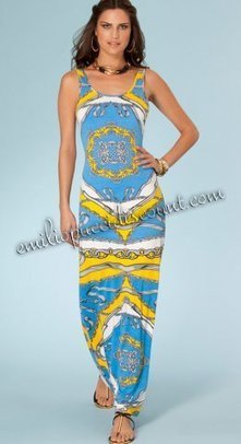 Emilio Pucci Blue Be Iconic Rayon Tank Maxi Dress Cheap [Tank Maxi Dress Blue] - $203.99 : Emilio pucci dresses online outlet,discount pucci dresses on sale! | chic items | Scoop.it