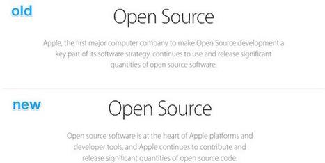 «Première entreprise informatique open source» : Apple reformule ses propos | Jaclen's technologies | Scoop.it