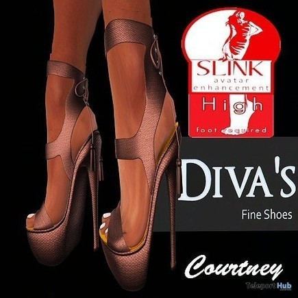 High Heel Pumps Brown For Slink Feet by Diva's Shoes   Teleport Hub - Second Life Freebies   Second Life Freebies   Scoop.it