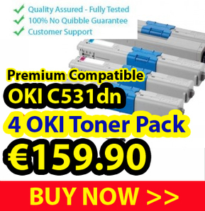 Get 4 Pack of OKI Compatible Laser Toner for C531DN Just at €160 | Find the Best Value Ink and Toner Cartridges with Multipack Deals in Ireland | Scoop.it