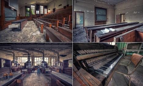 Creepy abandoned classrooms and dust-filled laboratories   Patrimoine scientifique et technique de l'université   Scoop.it