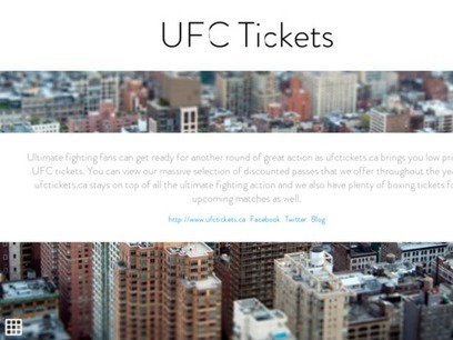 UFC Tickets | UFC Tickets | Scoop.it