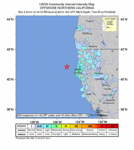 6.9 earthquake in Northern California felt as long and slow | Sustain Our Earth | Scoop.it