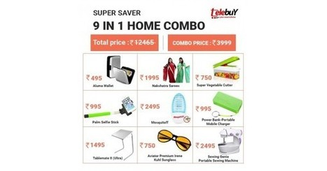Buy Super Saver 9 In 1 Home Combo From Tbuy.in | BEST ONLINE SHOPPING IN INDIA | Scoop.it