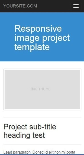 Project responsive image Bootstrap 3.0. template | Twitter Bootstrap templates starter KIT free | Scoop.it