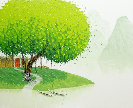 Vietnamese Landscapes Painted by Phan Thu Trang | [Art] - artist's point of view, creative process &  interesting pieces | Scoop.it