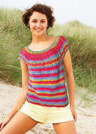 Lucia Tee Pattern 1744 pattern by Hélène Rush | Knitting for everyday comfort and delight | Scoop.it