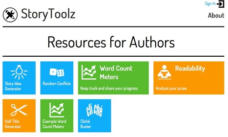 StoryToolz : Resources for Authors | Sizzlin' News | Scoop.it
