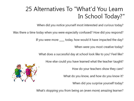 25 Alternatives To What'd You Learn In School Today? | Time2Wonder | Scoop.it