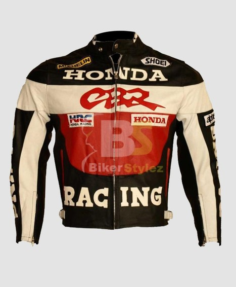 Honda Heavy Comely Bike Leather Jacket ideal way to look fashionable.   Honda Motorcycle Jackets   Scoop.it