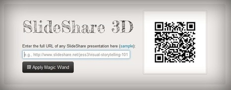 SlideShare 3D | Educational Technology and New Pedagogies | Scoop.it