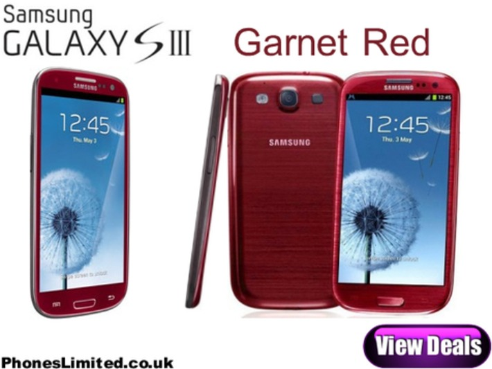 Samsung Galaxy S3 Garnet Red Deals Released in the UK | ❤ Social Media Art ❤ | Scoop.it