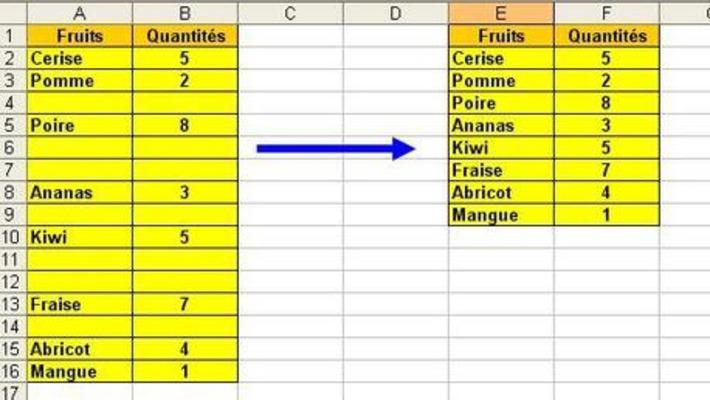Supprimer des lignes vides dans Excel | TIC et TICE mais... en français | Scoop.it