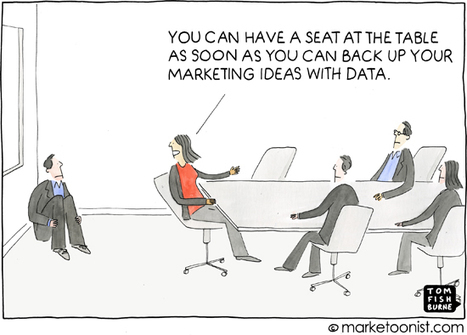 """Marketing Seat At The Table"" cartoon 