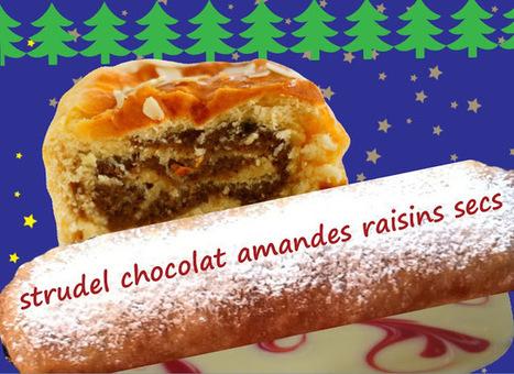 Recette de strudel de Noël au chocolat, amandes, raisins secs, graines de pavot | Desserts street food | Scoop.it
