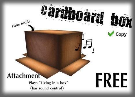 Cardboard Box by Blades Sanctum   Teleport Hub   Second Life Freebies   Scoop.it
