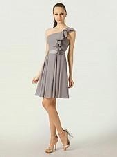 One Shoulder Ruffle Detailed Mini Chiffon Bridesmaid Dress | women's fashion and beautiful pic | Scoop.it