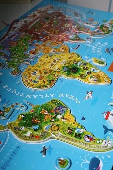 le puzzle aimanté carte du monde | Jeu puzzles | Scoop.it