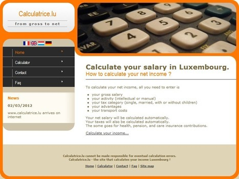 Calculate your net income in Luxembourg | Luxembourg (Europe) | Scoop.it