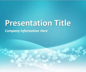 Wavy Blue PowerPoint Template | template | Scoop.it
