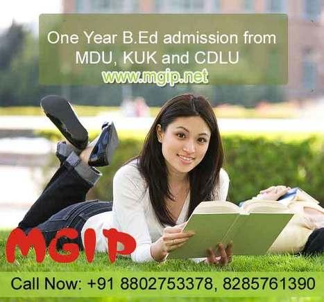 One Year B.Ed admission from MDU, KUK & CDLU | MDU B.Ed Admission Updates 2014-15 | Scoop.it