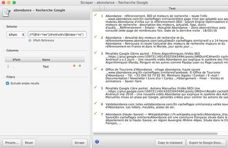 Comment récupérer (scraper) les résultats Google pour une requête donnée ? (tuto) - Actualité Abondance | François MAGNAN  Formateur Consultant | Scoop.it