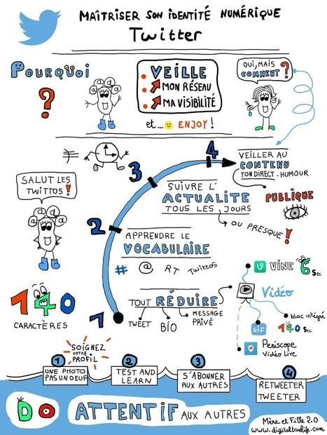 Comment maîtriser Twitter en 1 dessin (ou presque) ?   Vie numérique  à l'école - Académie Orléans-Tours   Scoop.it