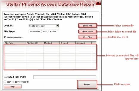 Access Database Repair Tool- Repair Corrupt Access Files by Stellar   file repair   Scoop.it