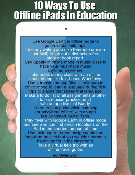 10 Great Tips on Using iPad Offline ~ Educational Technology and ... | #edpad | Scoop.it
