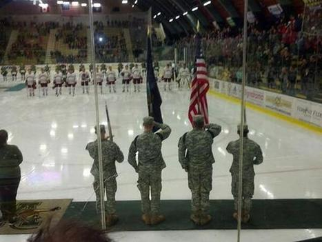 Color Guard at UVM's Military Appreciation hockey game | hockeey | Scoop.it