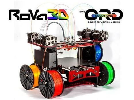 RoVa3D - Multi-Color 3D Printer Launches on Kickstarter | Inside3DP | 3D Printers | Scoop.it