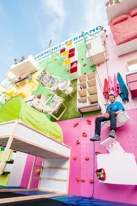 Un mur d'escalade avec des meubles Ikea ! | streetmarketing | Scoop.it