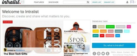 Intralist Is A Good Tool For Creating Online...Lists | Edtech PK-12 | Scoop.it