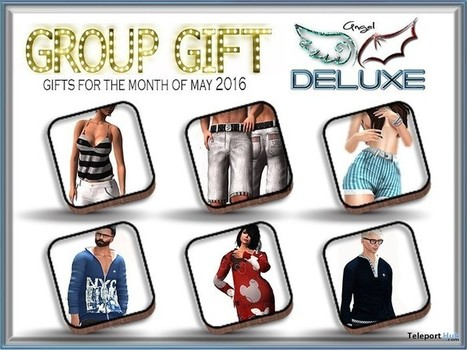 Outfits for Men and Women May 2016 Group Gifts by Angel DELUXE | Teleport Hub - Second Life Freebies | Second Life Freebies | Scoop.it