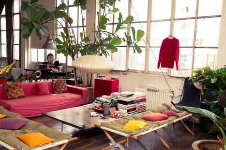 Visite déco dans l'appartement de Jerome Dreyfuss et Isabel Marant | DecoCrush blog déco, idées déco | décoration & déco | Scoop.it